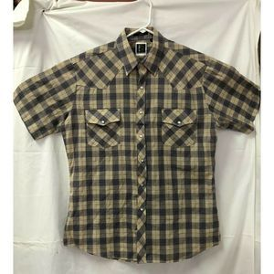 Holt Western Wear Shirt Medium Pearl Snaps Rodeo